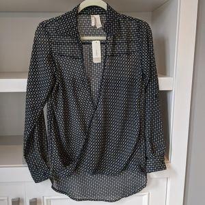 Japana pattern wrap blouse size S